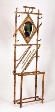 Portmantou bambus cu oglinda #128