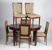 Masă ovală cu șase scaune #179