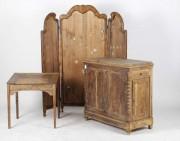 Paravan, măsuță și dulăpior de lemn #303