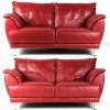 Set 2 canapele din piele roșie #182038