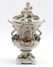 Vază din porțelan cu decor floral #271