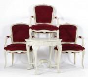 Set de salon vopsit în alb #181521